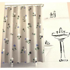 Kate Spade Willow Court Fabric Shower Curtain